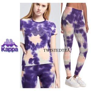 NWT KAPPA matching tie dye set T-shirt legging M